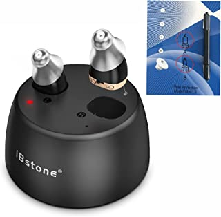 Sponsored Ad - iBstone K18 Rechargeable Hearing Amplifier to Aid Hearing, Mini Completely-in-Canal (CIC) Mini Digital Hear...
