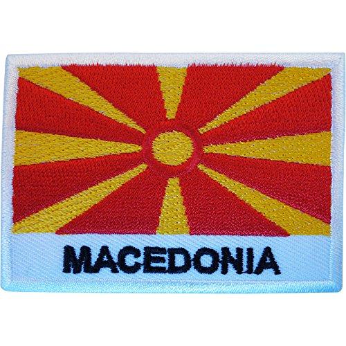 Mazedonien-Flagge, Aufnäher zum Aufbügeln oder Aufnähen, bestickt, Griechenland