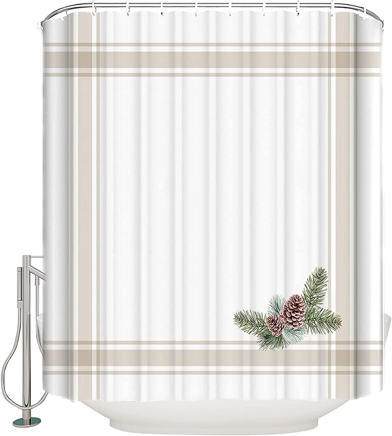 Futuregrace Fabric Shower Industry No. 1 Curtain for Christmas Pine C High quality new Bathroom