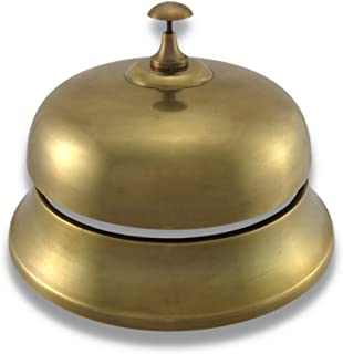 Oversized Brass Finish Aluminum Desk Bell