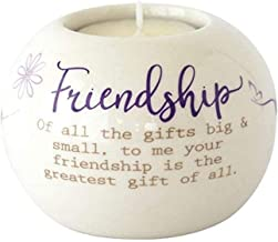Said with sentiment Ceramic Tealight Candle Holder - Friendship