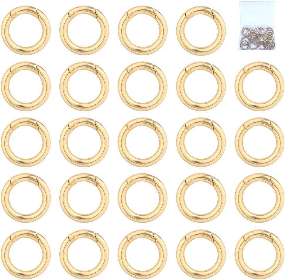 Ceqiny Max 59% OFF 25pcs Alloy Spring Ring Popular brand Snap Clip Trigger Round Carabiner