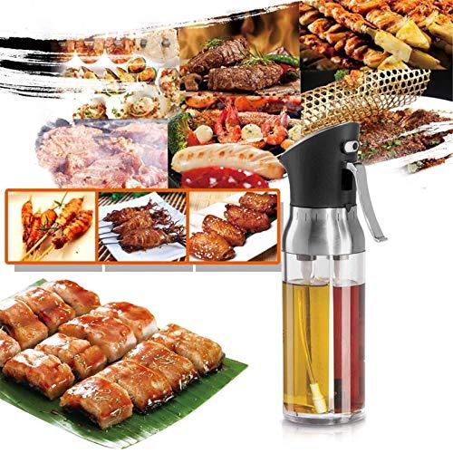 Pulverizador de aceite de cocina Pulverizador de aceite y rociador de vinagre 2-IN-1 Pulverizador de aceite de oliva Barbacoa Marinaria Spray Botella de rociado Fino Mist Orminelar Pulverizador Dispen