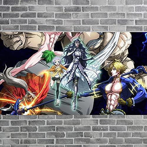 Yiwuyishi Anime japonés Ragnarok Record Posters Lienzo Pintura Sala de Estar Decoración de la Pared Fondos de Pantalla Decoración para el hogar Pintura 50x70cm P-992