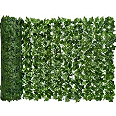 Realistic green Ivy look: Artificial ivy leaves are natural looking to provide every indoor or outdoor space a blooming, earthy feel without the need for watering,Use zip ties or tape to install, it can be cut to get the size and shape you want, can ...