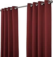 NIM Textile Grommet Curtains, Thermal Insulated Blackout Drapes, 2 panels 180cm x 213cm, Burgundy, Sofiter Collection