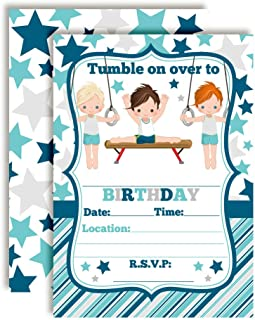Best gymnastic party invitations free Reviews
