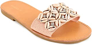Chumbak Seashells Coral Sliders - 40