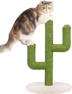 bingopaw キャットタワー 猫 爪とぎ ポール 麻 据え置き ミニ キャットツリー スリム 低い サボテン かわいい 子猫 木登り コーナー