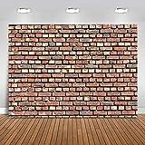 Avezano Red Brick Wall Hintergrund, Vintage leere Textur Old Street Brick Wall Foto Hintergrund für Neugeborene Baby Portrait Fotografie,2.2x1.5m