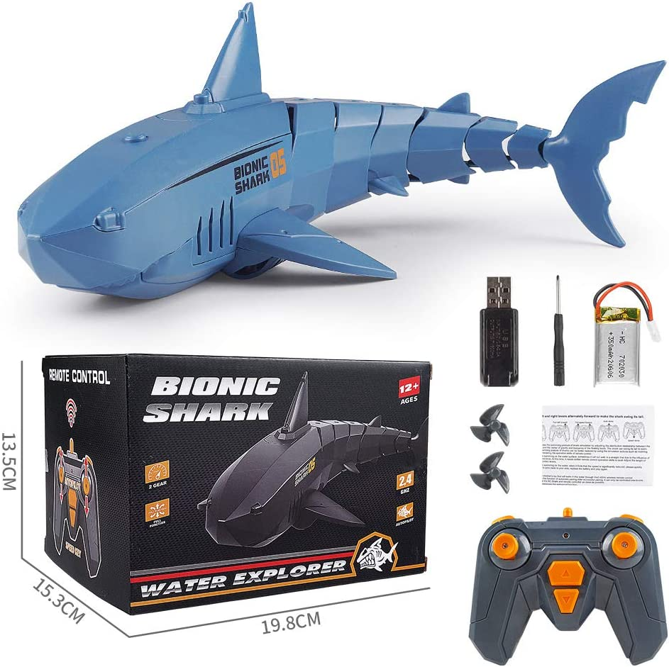 Shark 5 ☆ popular Remote Control Toy 2.4G RC Boat Same day shipping Simulation