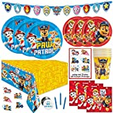 Paw Patrol Party Supplies and Decorations, Paw Patrol Birthday Party Supplies, Serves 8 Guests, Officially Licensed with Table Cover, Banner Decor, Plates, Napkins & More
