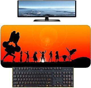 鼠标垫 One Piece Luffy动漫战地面速度游戏 哑光橡胶锁边游戏桌用电脑垫 900x400x3 ワンピース-Photo_Color_700x300mm