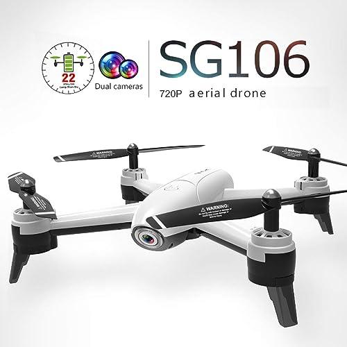 contador genuino Lorenlli Para SG106 Drone Drone Drone RC con 720P HD cámara Dual FPV WiFi en Tiempo Real Video aéreo Flujo óptico RC Quadcopter Helicóptero 2 baterías  alta calidad general