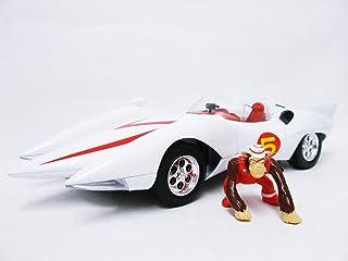 マッハGO!GO!GO! マッハ号 アメリカンマッスル 1/18 Speed Racer Mach 5(ホワイト/レッド) 並行輸入品 おまけ付