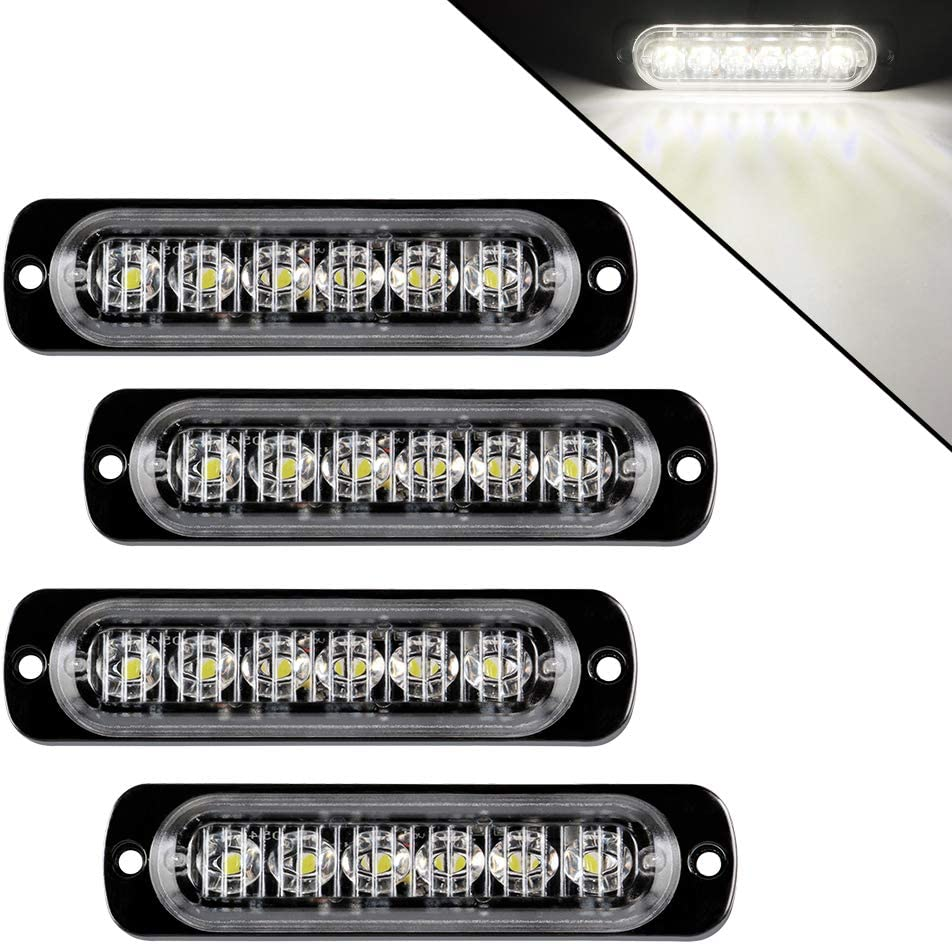 Teguangmei 4Pcs Super popular specialty store Ultra Thin 6LED NEW Universa Emergency Lights Strobe