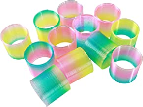 Kicko Glow in the Dark Spring Coil - 12 Pack - 1.5 Inch Light up Coil Spring in Rainbow Colors for Toy Collection, Class Rewards, Playtime Activity, Pinata Fillers, Goody Bags