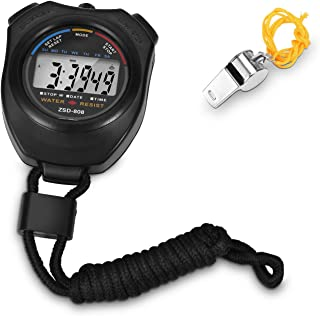 stopwatch Big Screen Interval Timer Dedicated To Training & Sports.Easy to operate stopwatch+Whistle.