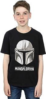 Star Wars Niños The Mandalorian Helmet Logo Camiseta