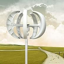 Dyrabrest 600W Lantern 5 Blades Wind Turbine Generator Vertical Axis with Controller 12V/24V (12V)