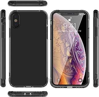 KIPONE Funda para teléfono para iPhone X / XS Funda para iPhone XR Funda para iPhone XS Max Funda protectora a prueba de golpes Protector de pantalla de vidrio templado antirrayas Universal Impermeable IPX / XS-01-02
