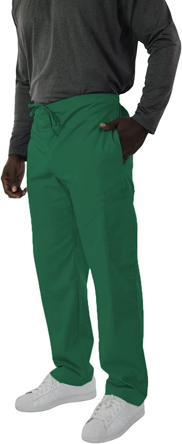 Spectrum Trouser/Cargo/Scrub Pants with Drawstring, Elastic Waist, 2 Side and One Back Pocket for Outdoor and Casual Wear - 3X Scrub Pants Tall - Hunter Green