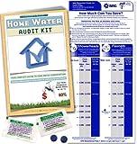 Home Water Audit Kit - Faucet Flow Gauge Measuring Bag & Toilet Leak Detecting Tablets. Water Saving for Shower and Faucet | Dye Tablets for Silent Bathroom Toilet Leaks.