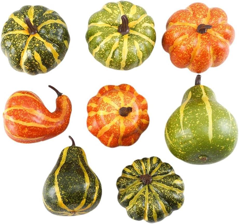 ICRPSTU Super popular specialty store Artificial Pumpkins 8PCS Mini Fake Pumpk Popular Faux