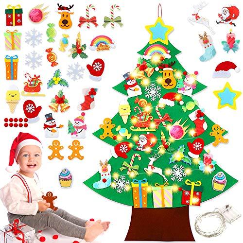 Sunshine smile Arbol de Navidad de Fieltro,Arbol de Navidad
