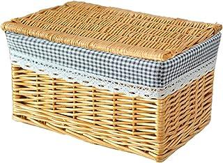 XXT-Sunshine Panier de Rangement avec Couvercle Boîte de Rangement en rotin Boîte de Rangement for vêtements Panier de Ran...