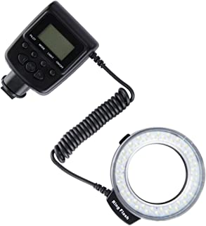 F Fityle LD-48 LEDs Rechargeable Video Camera Macro Ring Light for Nikon D5100 D600