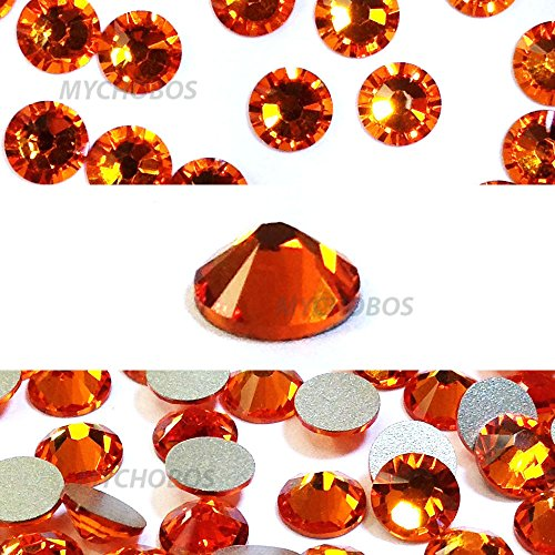 TANGERINE (259) orange Swarovski NEW 2088 XIRIUS Rose 20ss 5mm flatback No-Hotfix rhinestones ss20 144 pcs (1 gross) from Mychobos (Crystal-Wholesale)