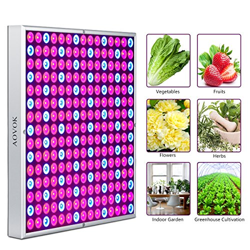 LED Grow Light Bulbs, AOVOK Grow Lamp Plant Light Panel Full Spectrum for Plants, Indoor Garden, Vegetable, Flowers, Fruits, Succulents, Seedlings Starting