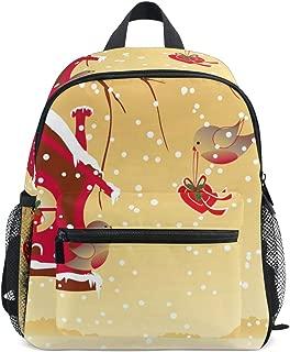 OREZI Toddler Backpack,Winter Christmas Robin Bird Send Greeting Preschool Bag Travel Snack and Toy Bacpack Christmas Gift for Children