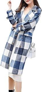 Howely Women Loose Double Button Thicken Fall Winter Lapel Jacket Outwear