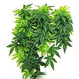 Austinstore Kunstpflanze für Aquarien, zum Aufhängen, für Reptilien, Plastik, grün, 50 cm