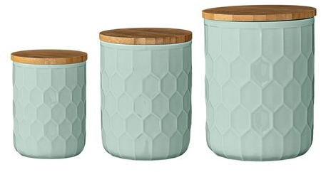 Mint Pantry Scandinavian 3 Piece Kitchen Canister Set & Reviews | Wayfair