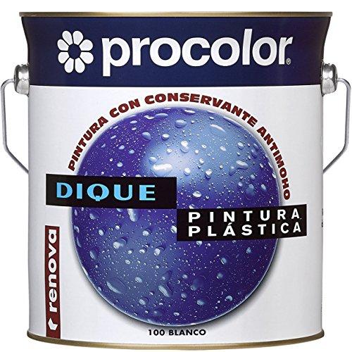 PINTURA PLÁSTICA CON CONSERVANTE ANTI-MOHO DIQUE 0.75 L