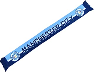 4SGM Football Club Manchester City 3 Tone Scarf Multicolor