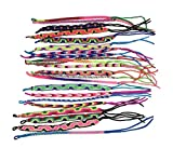 Assorted Colors Pack of 25 Woven Bracelet Pattern Adjustable One Size From Peru