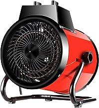 LTJX Calefactor Cerámico Profesional Termoventilador con 2 Potencias de Calor 3000W Patas Ajustables para Taller Almacén Almacén Garaje Rojo