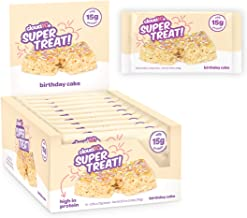 Cloud10 High Protein, Gluten Free, Dairy Free, Kosher, No Artificial Sweeteners, Peanut Free, Non-GMO, Marshmallow Crispy Treats, Birthday Cake (Pack of 10)