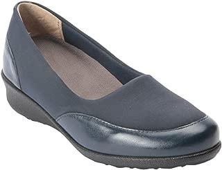 London II Women's Therapeutic Diabetic Extra Depth Shoe: Navy/Combo 12.0 X-Wide (2E) Slip-On