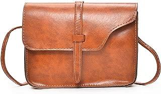Docooler New Vintage Women Crossbody Bag Flap Over Belt Front Messenger Shoulder Bag PU Leather Small Bag