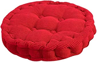 Almofadas de almofada de sofá de formato redondo, almofada de assento confortável para enchimento de algodão pérola gross...