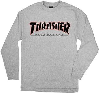Trucks x Thrasher Magazine Time to Grind Men's Long Sleeve T-Shirt - Athletic Heather - Large