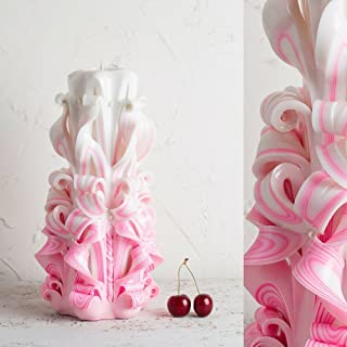 Candele Intagliate Rosa Per Compleanno - Regali per la Mamma Dalla Figlia - Fatti A Mano - EveCandles