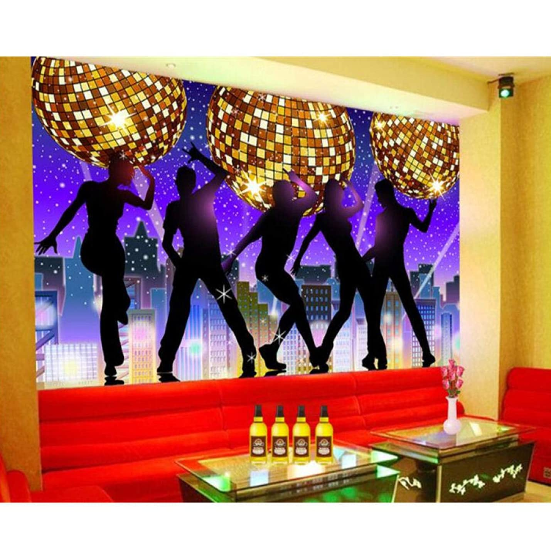正確さ緊急の前で壁画カラオケバーKTVディスコファンタジーダンスクラブナイトツーリング背景壁紙3d壁壁画280 cm(W)x 180 cm(H)