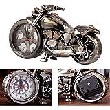 Reloj de la Motocicleta Alarma, Reloj de Mesa de Estilo, Motocicleta Modelo de Bastidor, para la Decoración de la Oficina en Casa (4 diseños Diferentes, Entrega al Azar)