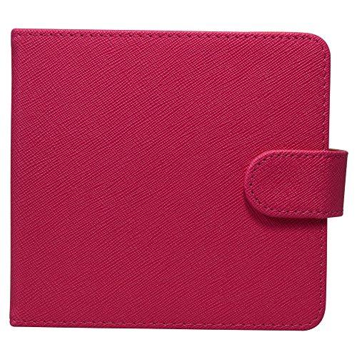 IQOS アイコス 専用ケース 手帳型 ヒートスティック クリーナー収納 財布型 カード入れ 加熱式タバコ入れ IQOS カバー (ピンク)